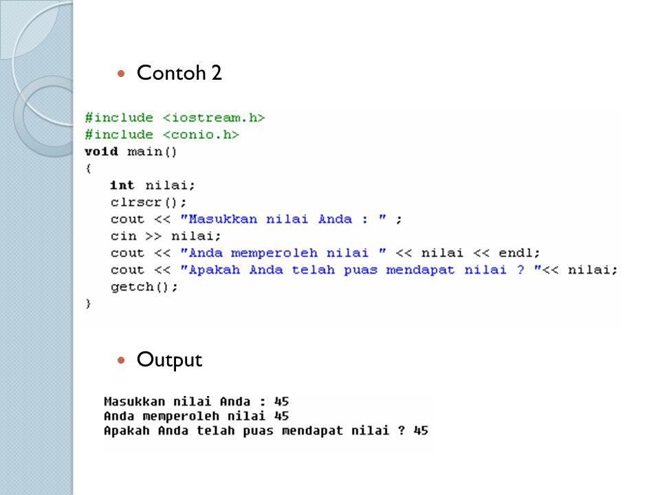 Contoh 2 Output