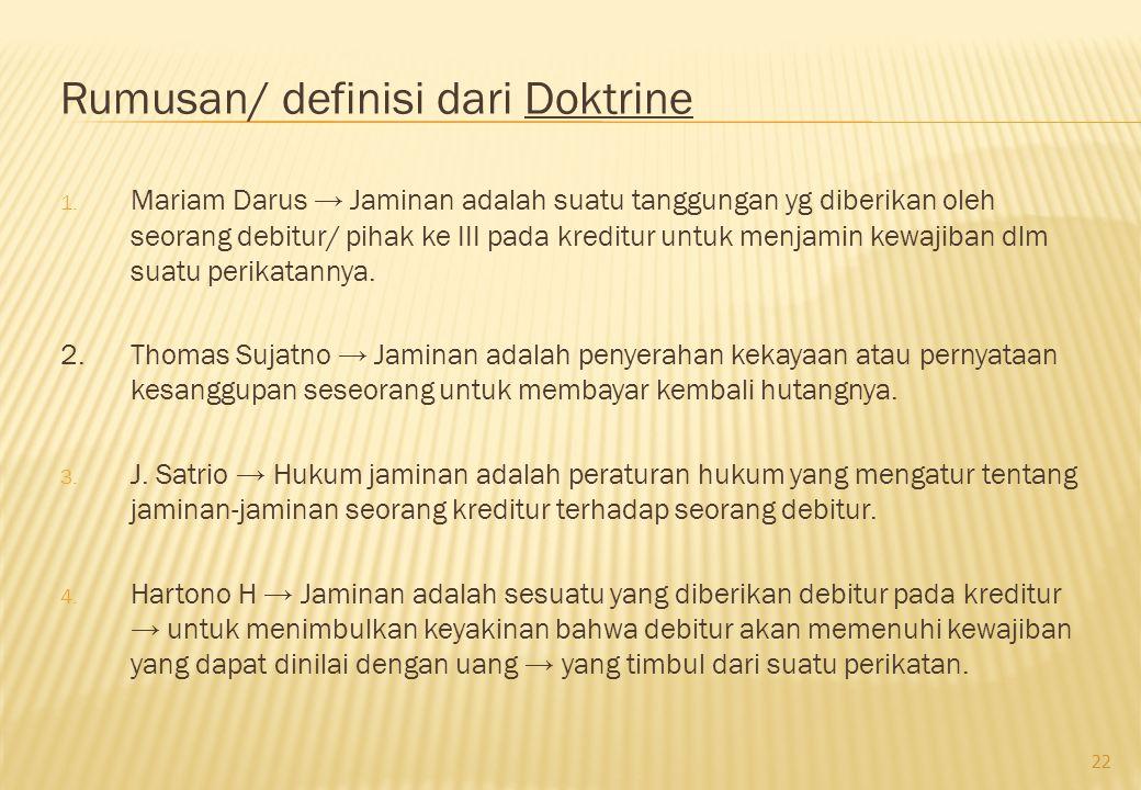 Rumusan/ definisi dari Doktrine