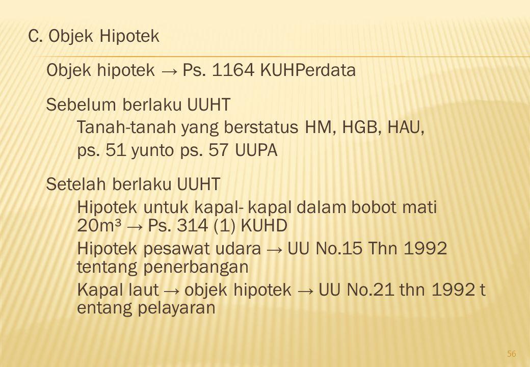 C. Objek Hipotek Objek hipotek → Ps