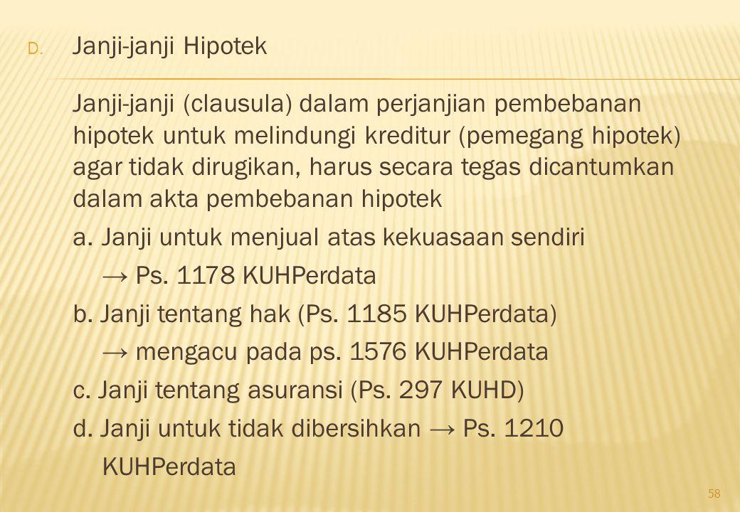 Janji-janji Hipotek