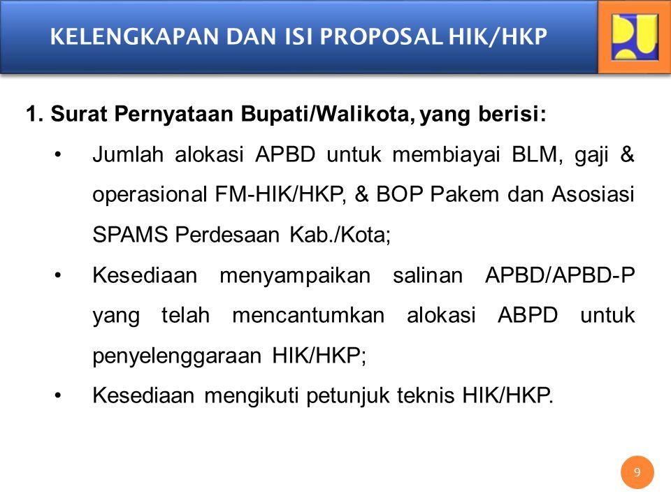 KELENGKAPAN DAN ISI PROPOSAL HIK/HKP