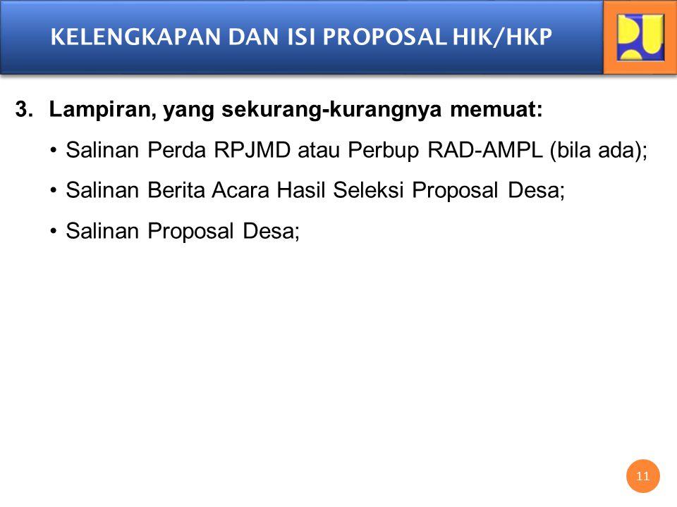 RUJUKAN FORMAT PROPOSAL HIK/HKP