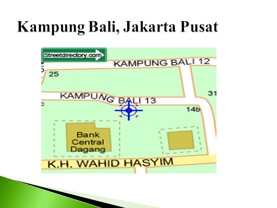Kampung Bali, Jakarta Pusat