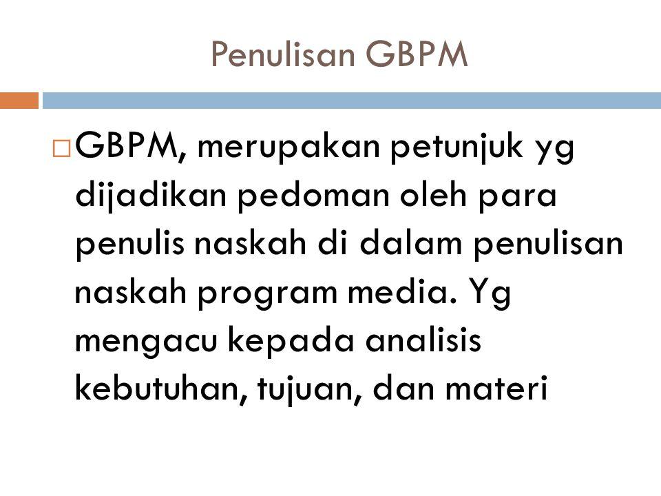 Penulisan GBPM