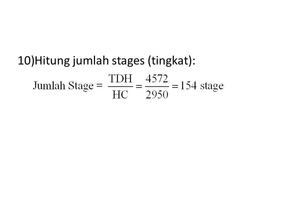 Hitung jumlah stages (tingkat):