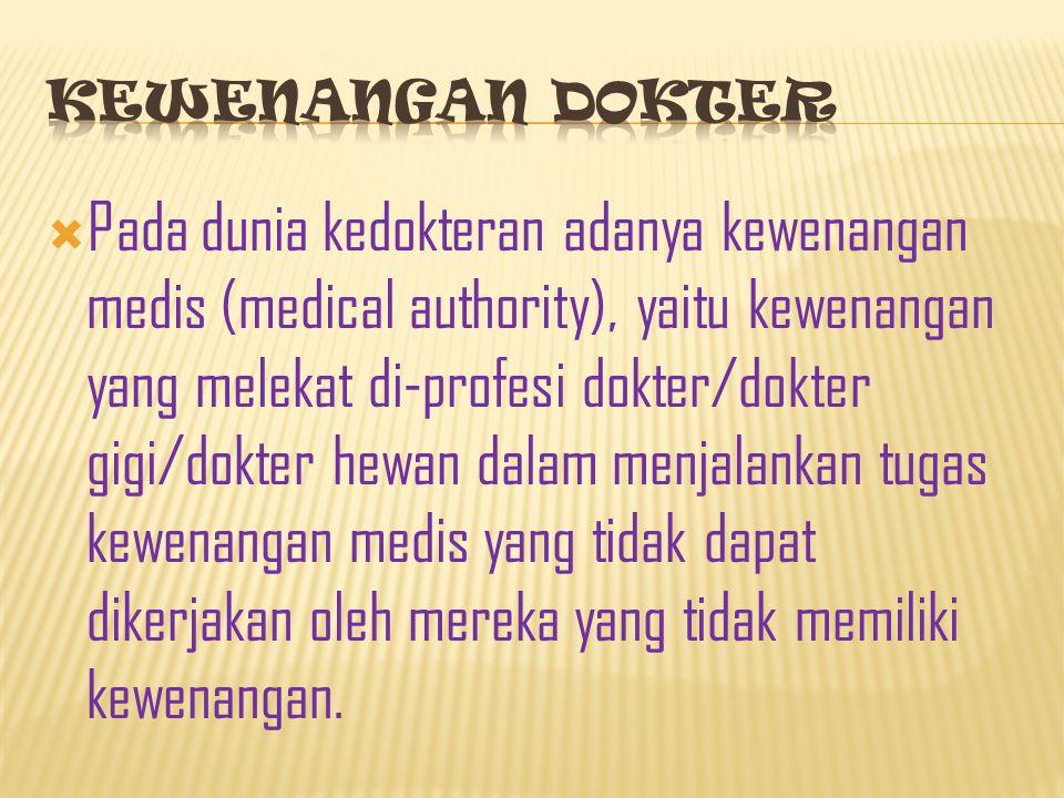 Kewenangan dokter