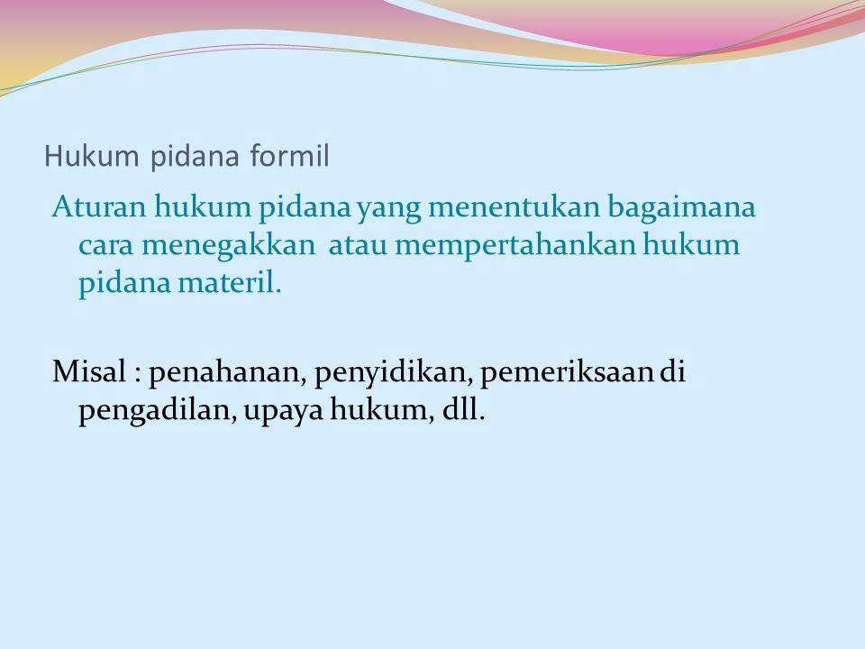 Hukum pidana formil