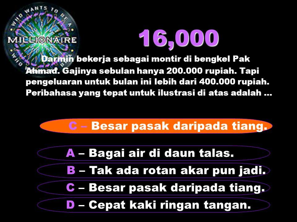16,000 Darmin bekerja sebagai montir di bengkel Pak