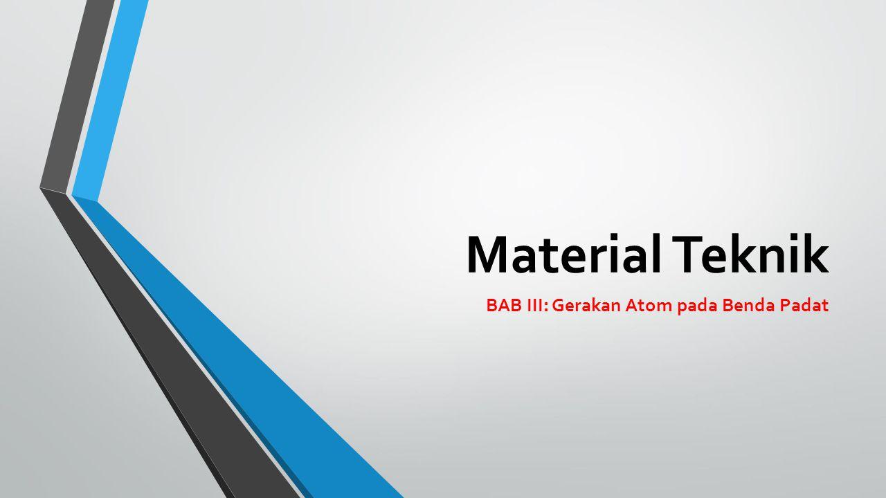 BAB III: Gerakan Atom pada Benda Padat