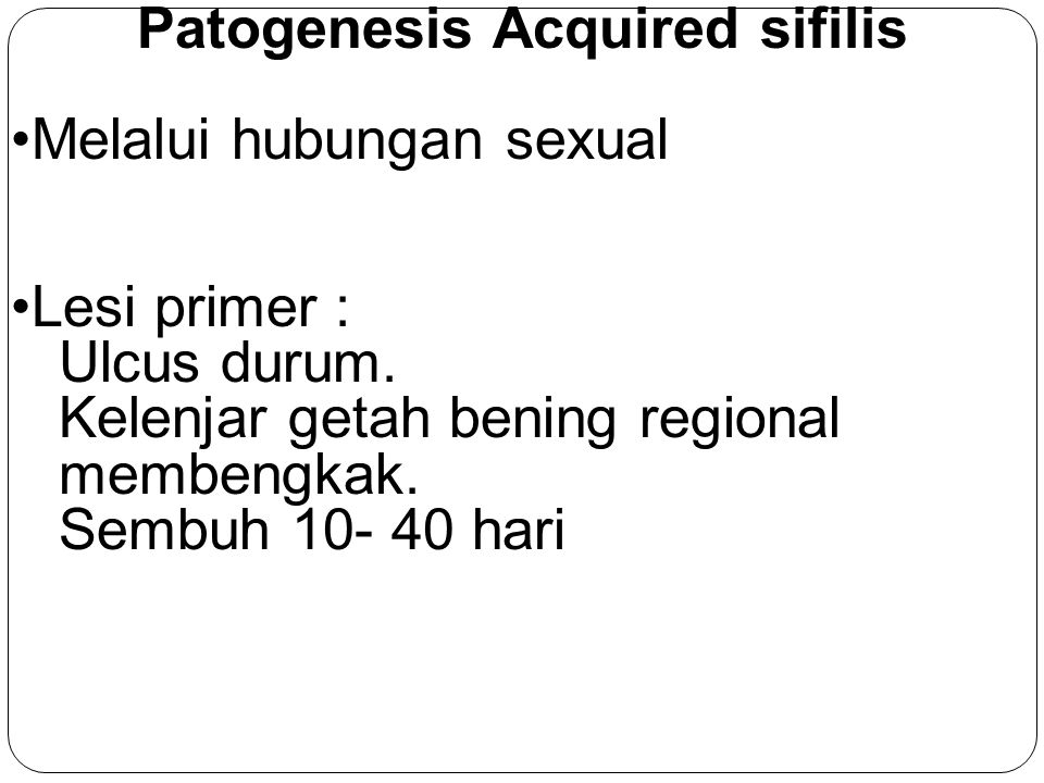 Patogenesis Acquired sifilis