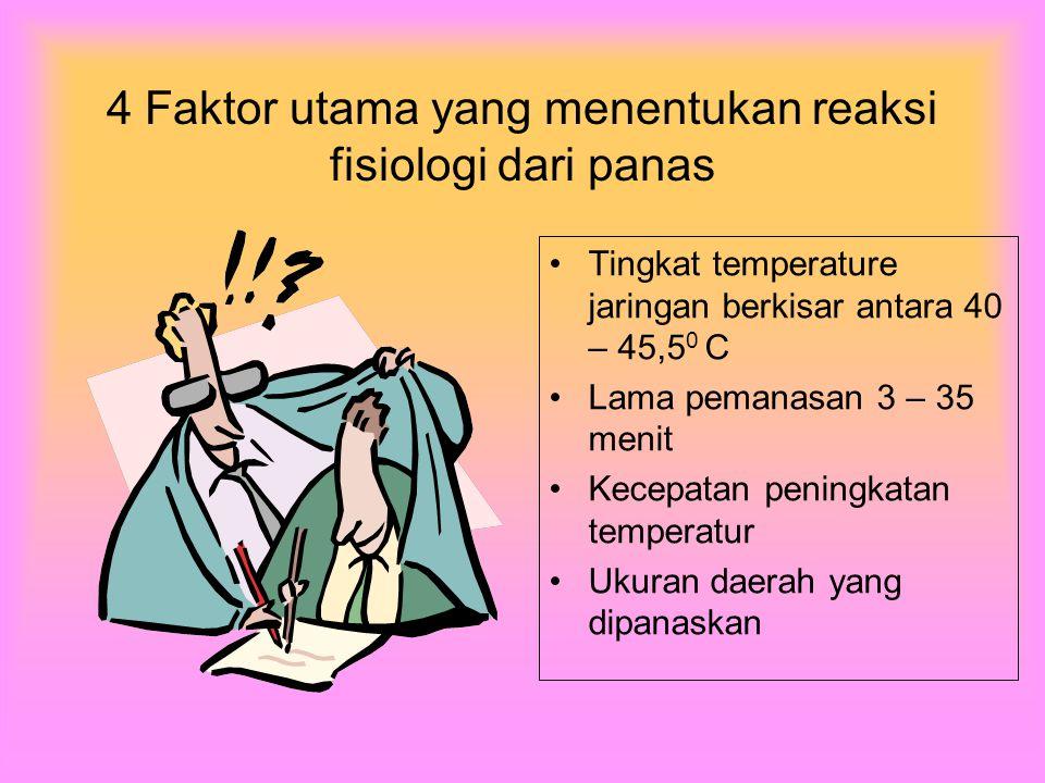 4 Faktor utama yang menentukan reaksi fisiologi dari panas