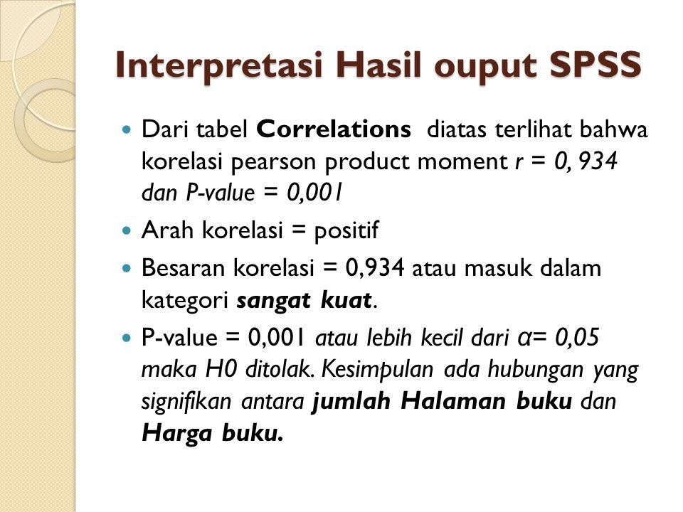 Interpretasi Hasil ouput SPSS