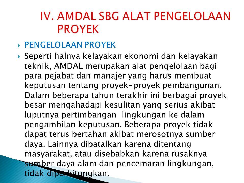 IV. AMDAL SBG ALAT PENGELOLAAN PROYEK