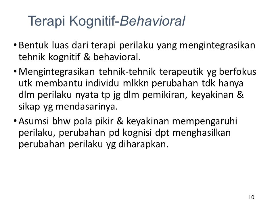 Terapi Kognitif-Behavioral
