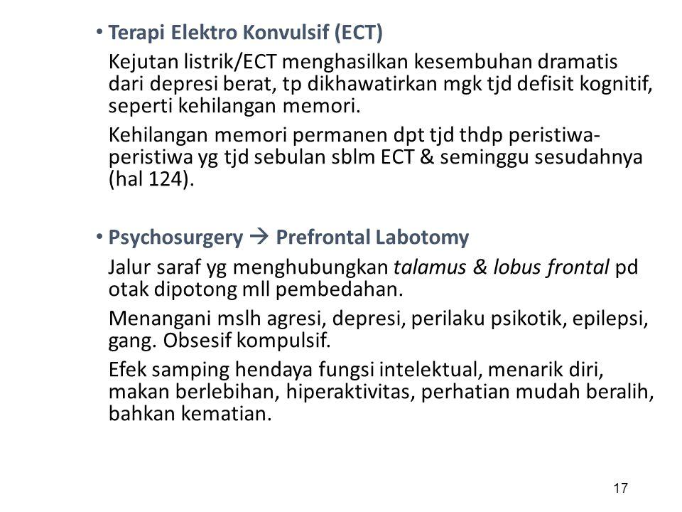 Terapi Elektro Konvulsif (ECT)
