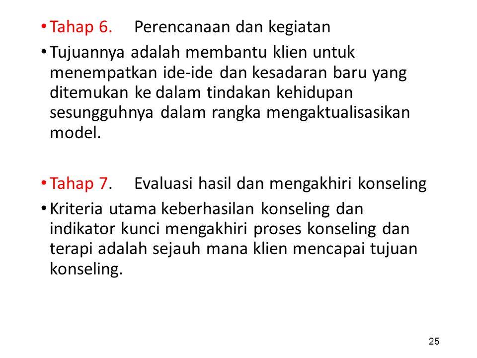 Tahap 6. Perencanaan dan kegiatan