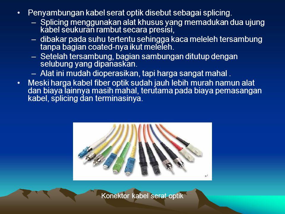 Penyambungan kabel serat optik disebut sebagai splicing.
