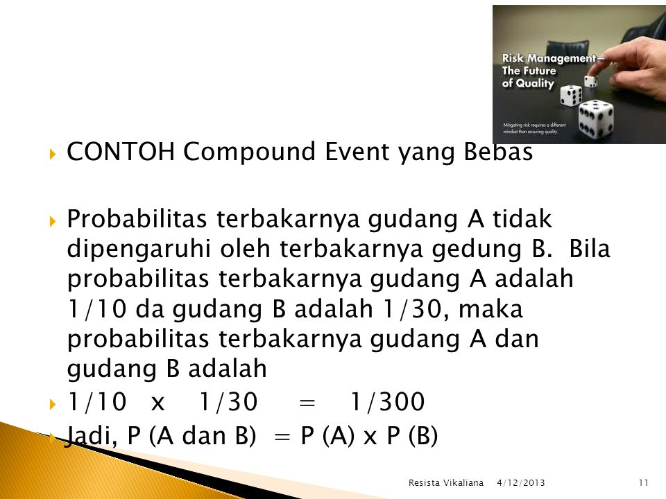 CONTOH Compound Event yang Bebas