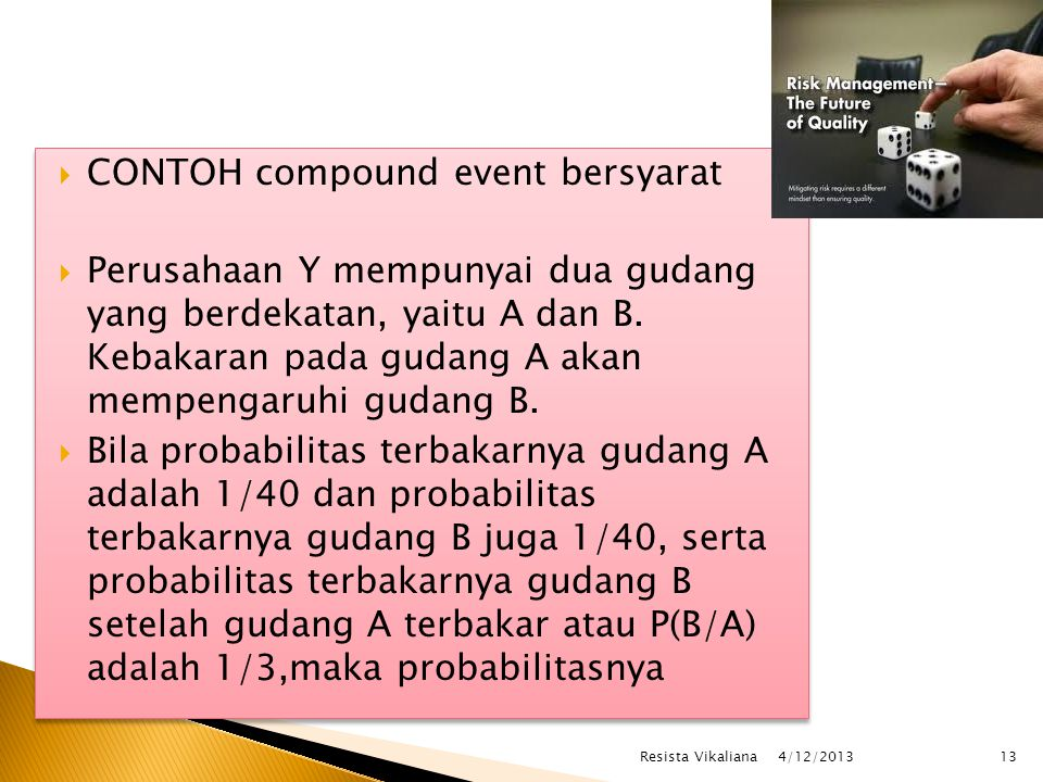 CONTOH compound event bersyarat
