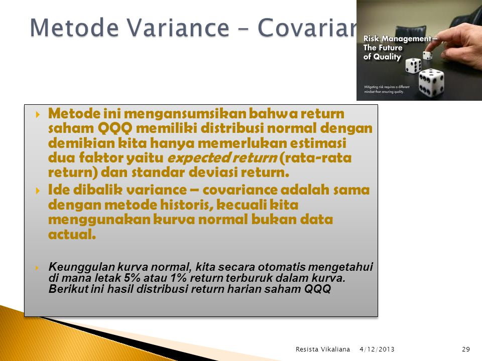Metode Variance – Covariance