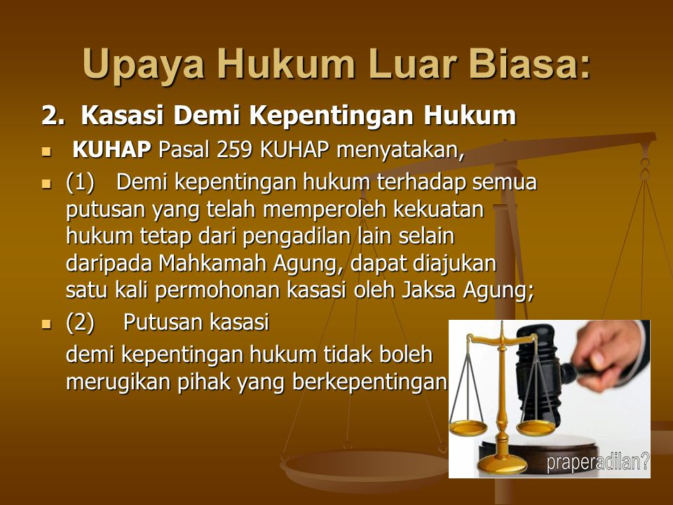 Upaya Hukum Luar Biasa: