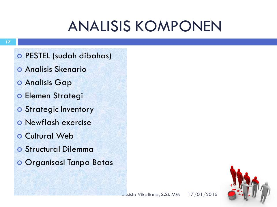 ANALISIS KOMPONEN PESTEL (sudah dibahas) Analisis Skenario