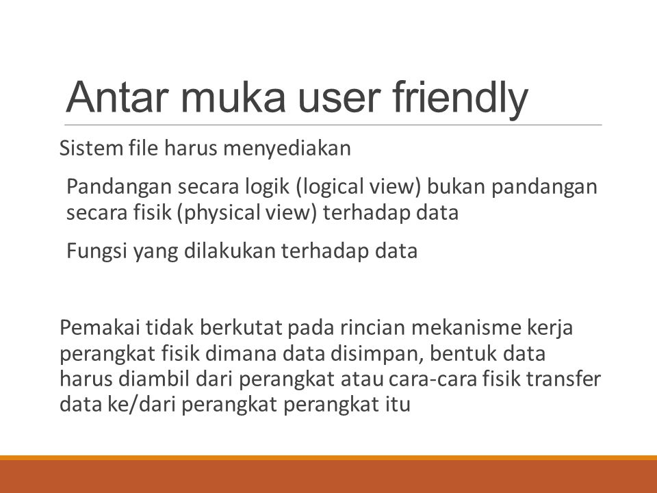 Antar muka user friendly