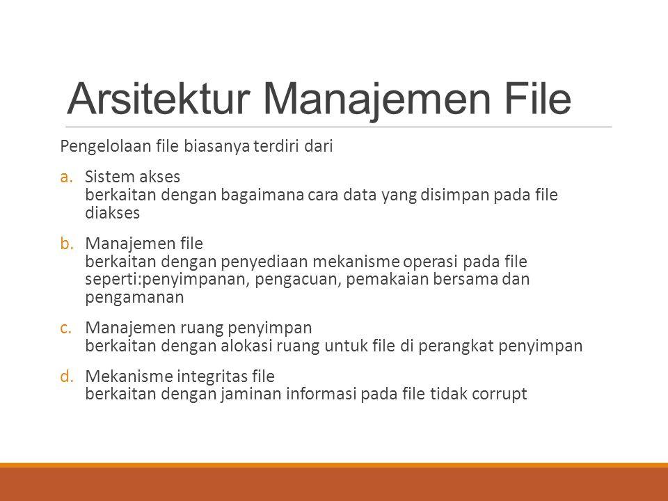 Arsitektur Manajemen File