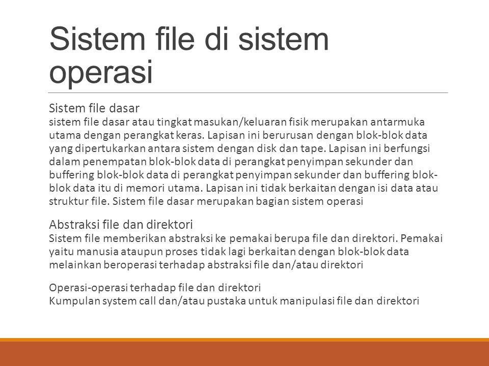 Sistem file di sistem operasi