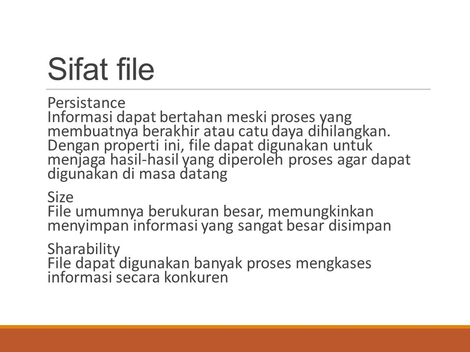 Sifat file
