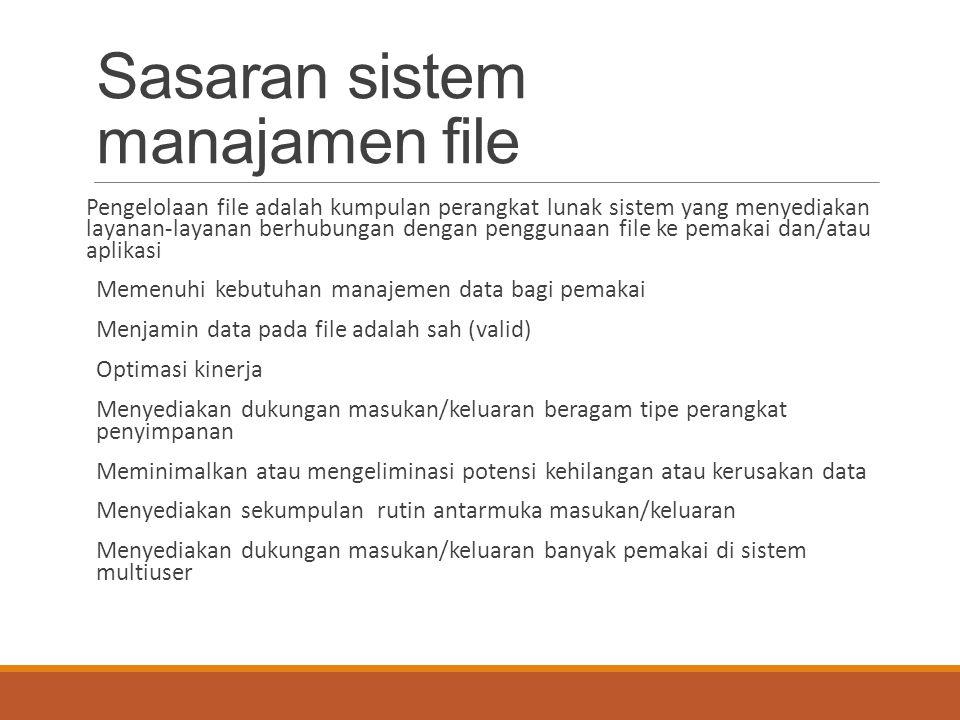 Sasaran sistem manajamen file