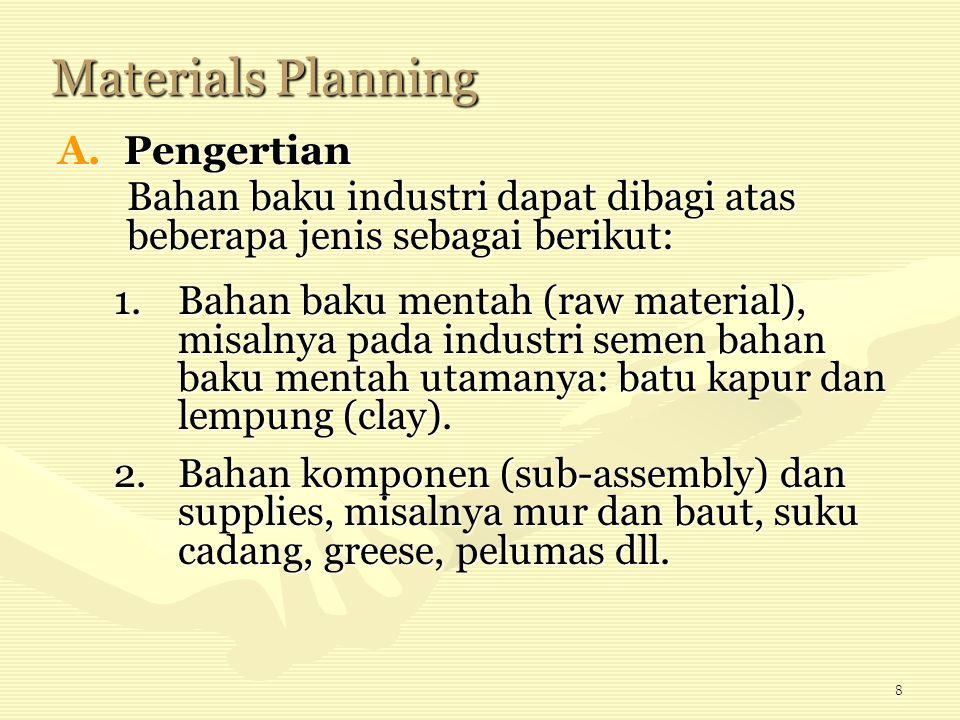 Materials Planning Pengertian