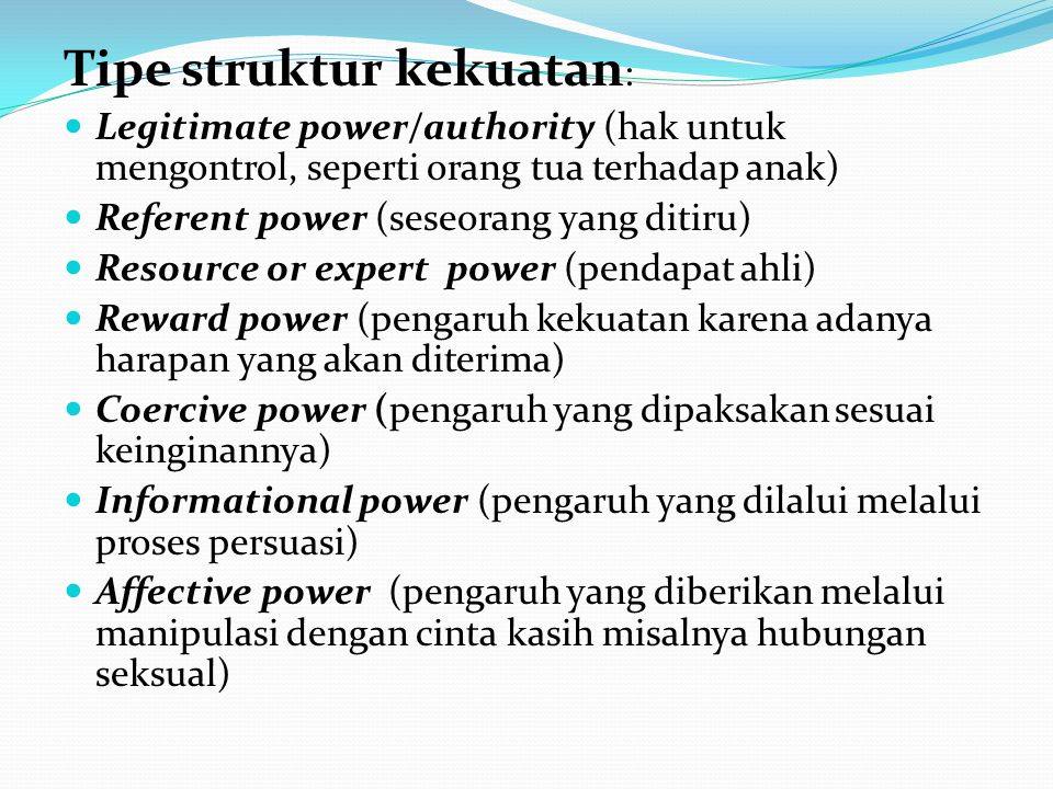 Tipe struktur kekuatan: