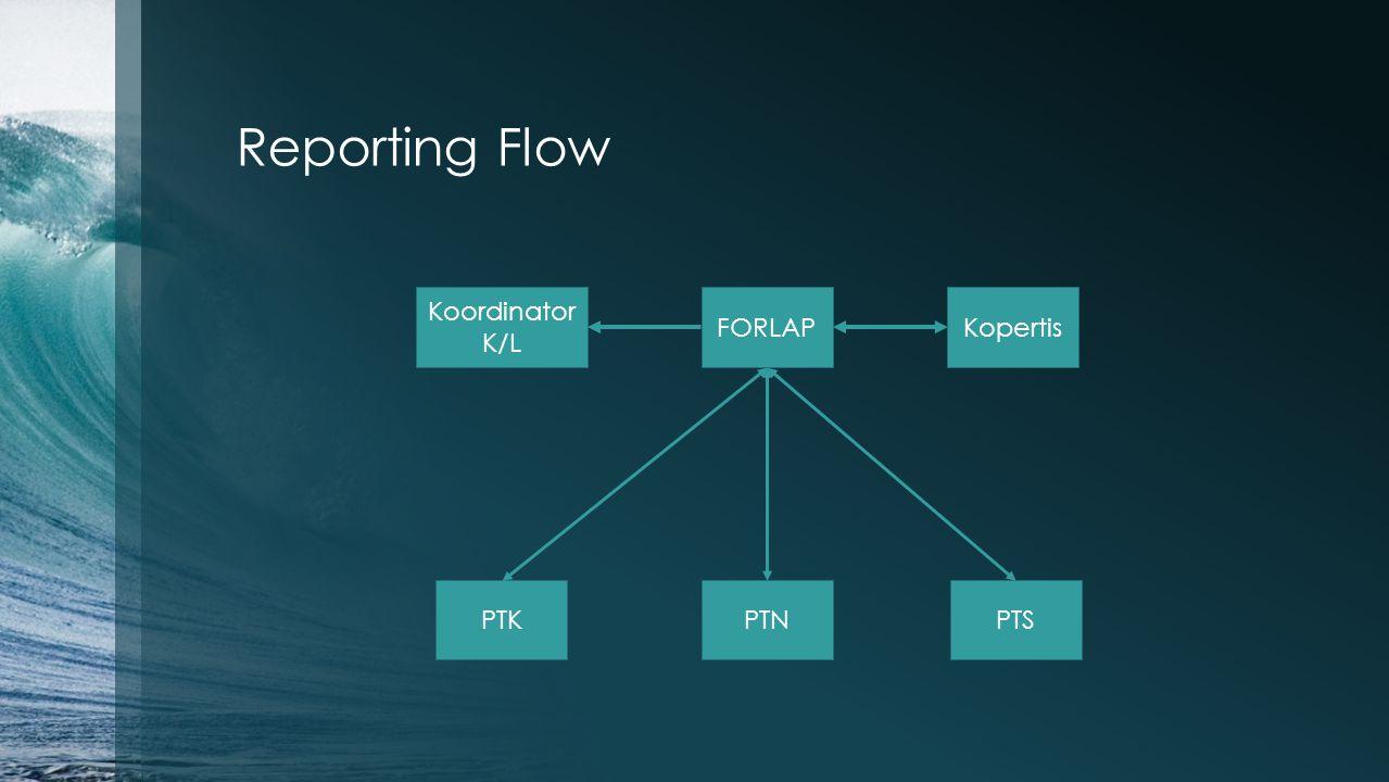 Reporting Flow Koordinator K/L FORLAP Kopertis PTK PTN PTS