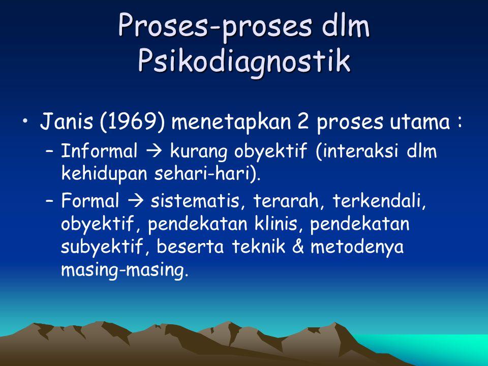 Proses-proses dlm Psikodiagnostik