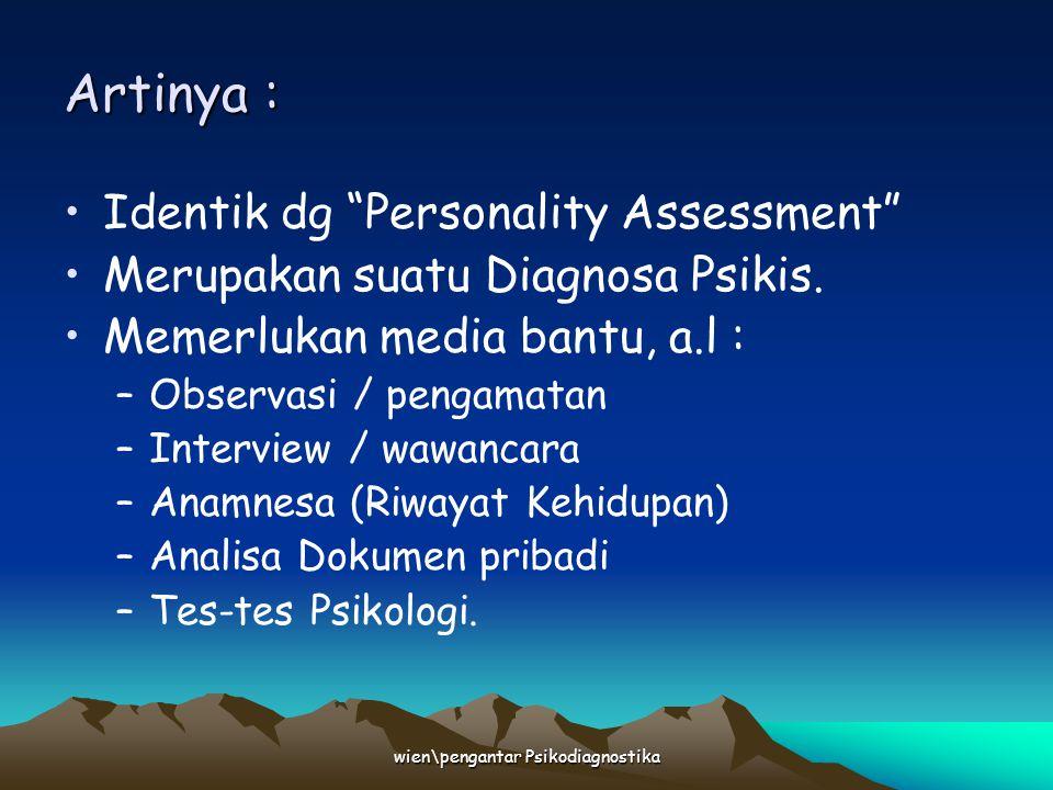 wien\pengantar Psikodiagnostika