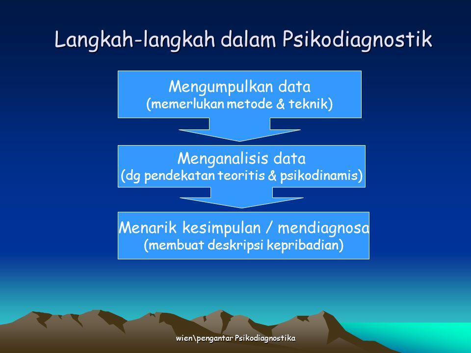 Langkah-langkah dalam Psikodiagnostik