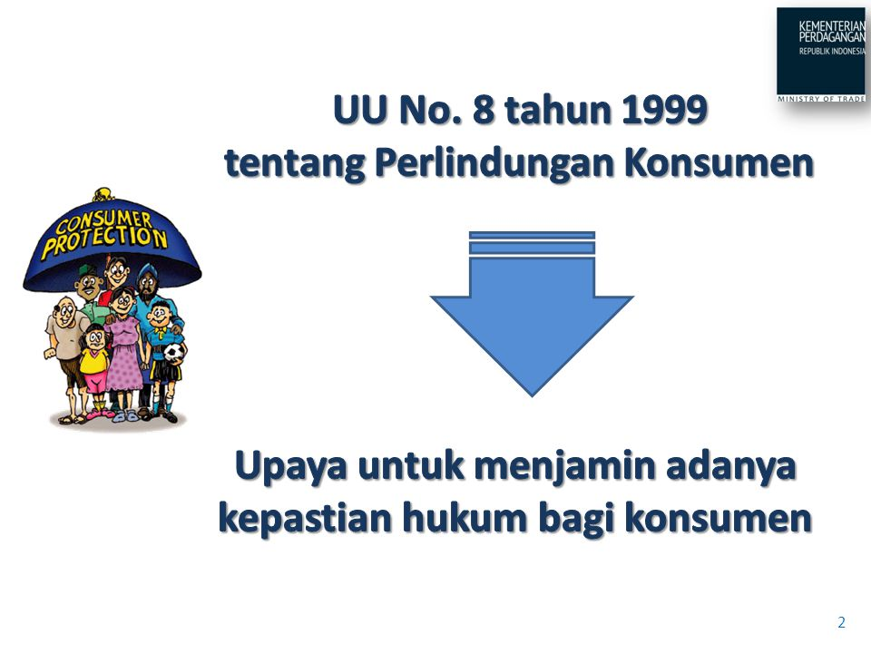 UU No. 8 tahun 1999 tentang Perlindungan Konsumen