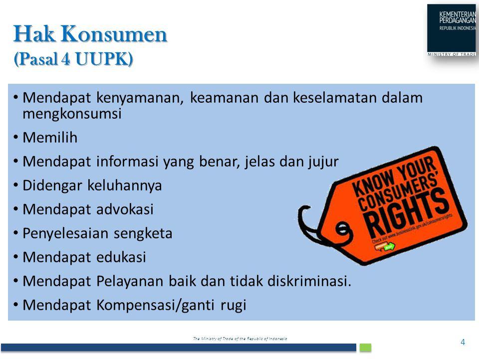 Hak Konsumen (Pasal 4 UUPK)