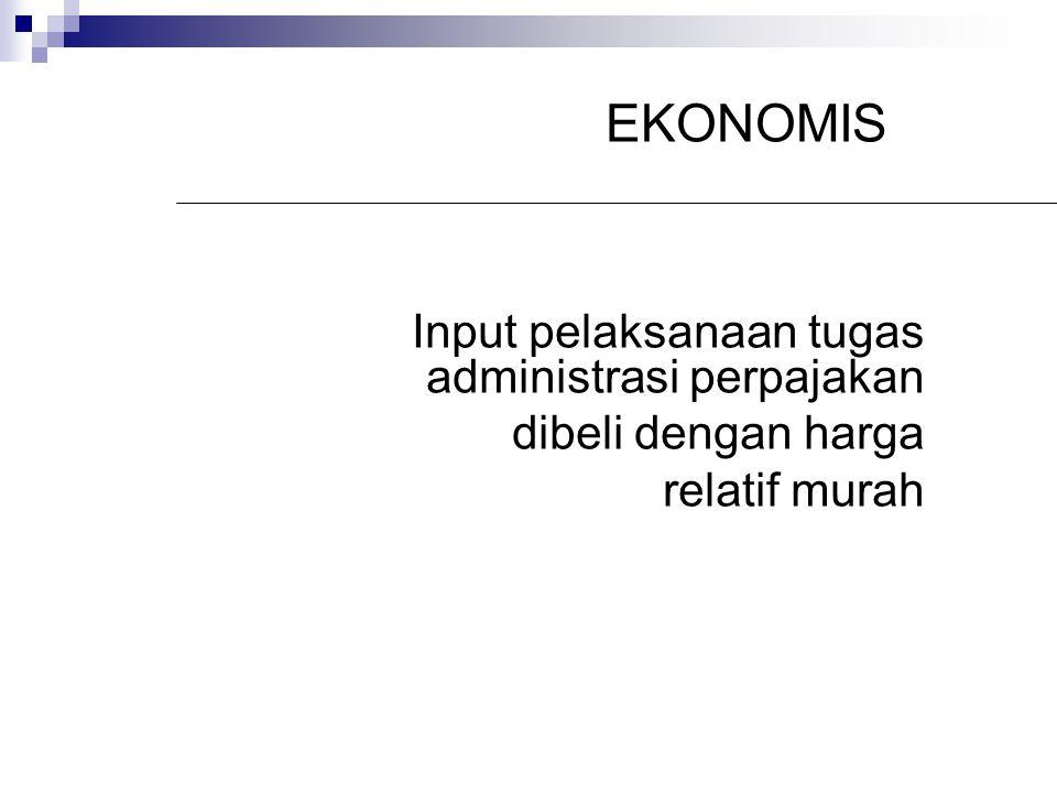 EKONOMIS Input pelaksanaan tugas administrasi perpajakan
