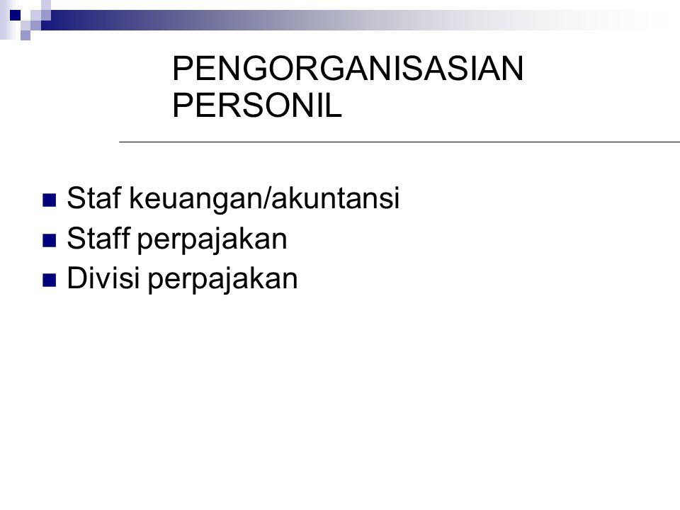PENGORGANISASIAN PERSONIL