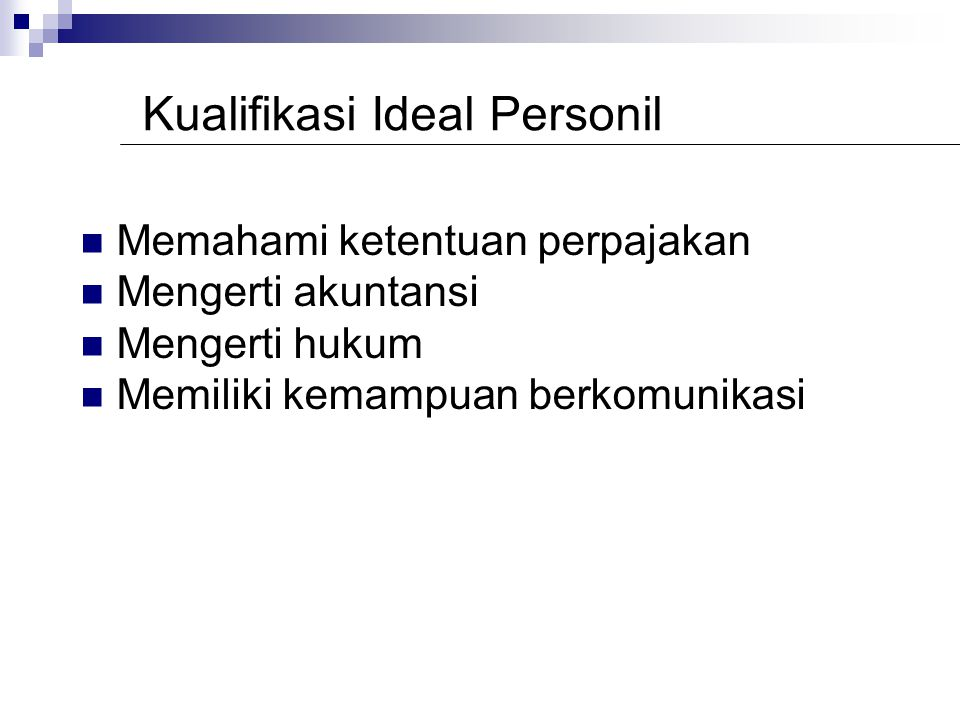 Kualifikasi Ideal Personil