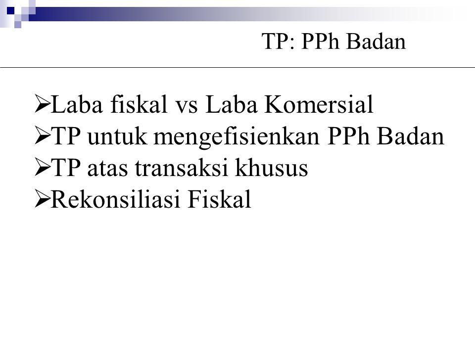Laba fiskal vs Laba Komersial TP untuk mengefisienkan PPh Badan