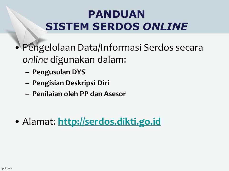 PANDUAN SISTEM SERDOS ONLINE