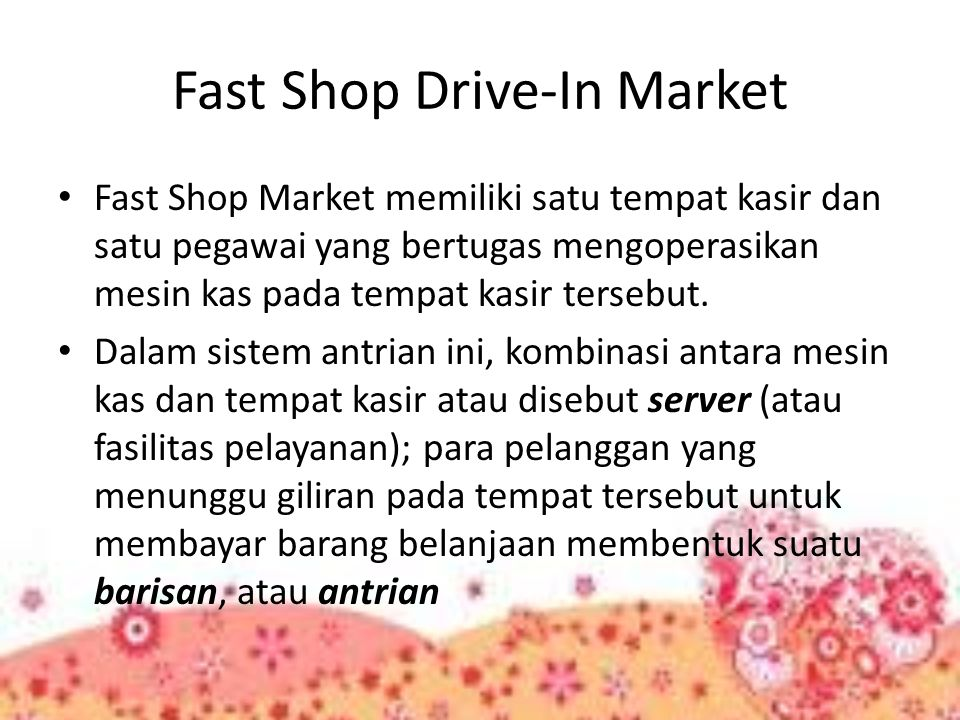 Fast Shop Drive-In Market