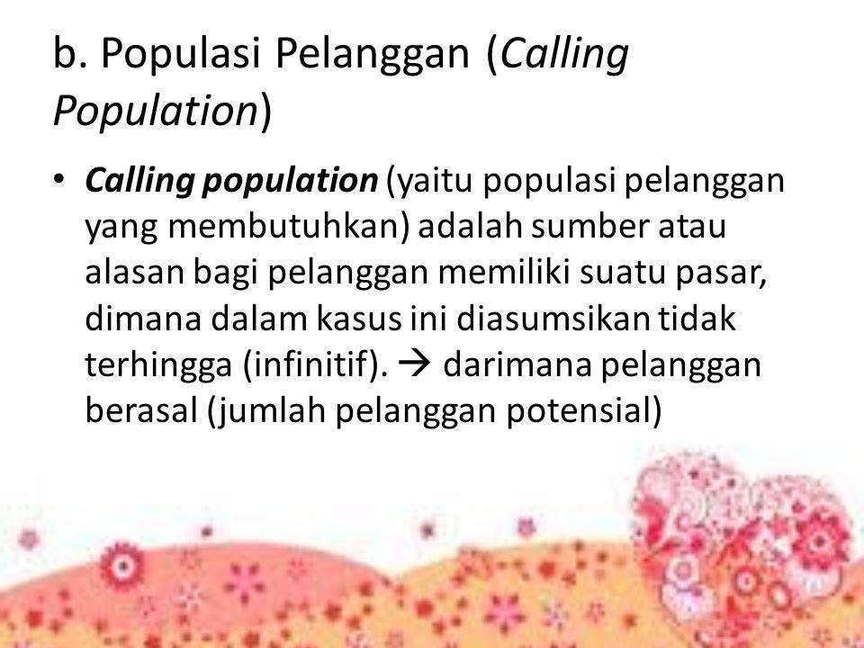 b. Populasi Pelanggan (Calling Population)
