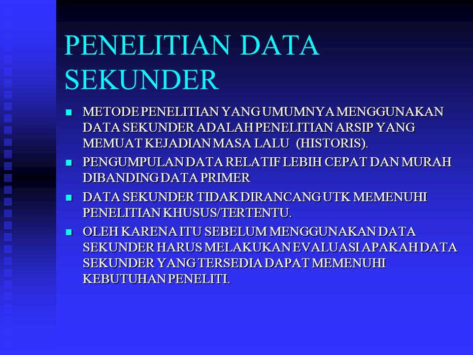 PENELITIAN DATA SEKUNDER