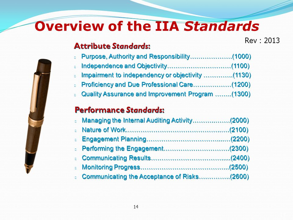 Overview of the IIA Standards