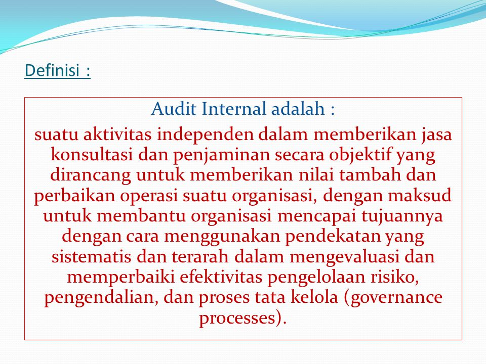 Audit Internal adalah :