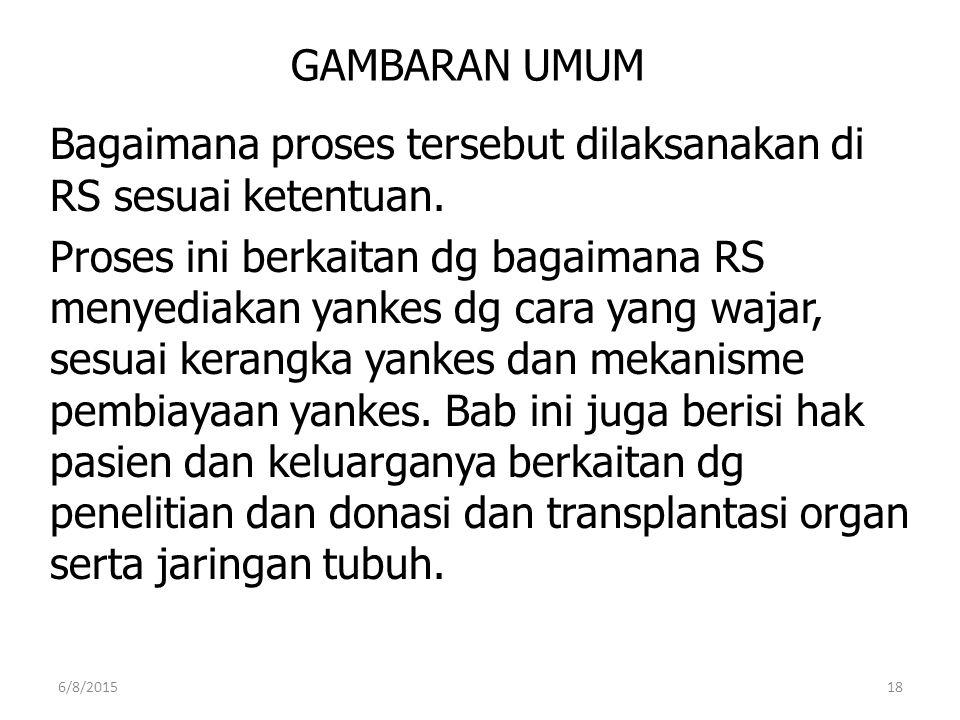 Bagaimana proses tersebut dilaksanakan di RS sesuai ketentuan.
